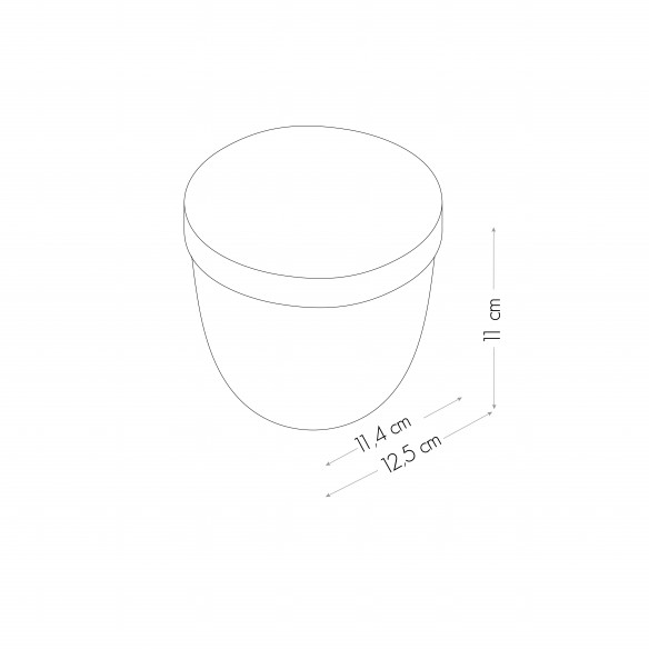 Boule Magnetica Trasparente Ø 10cm con Coperchio