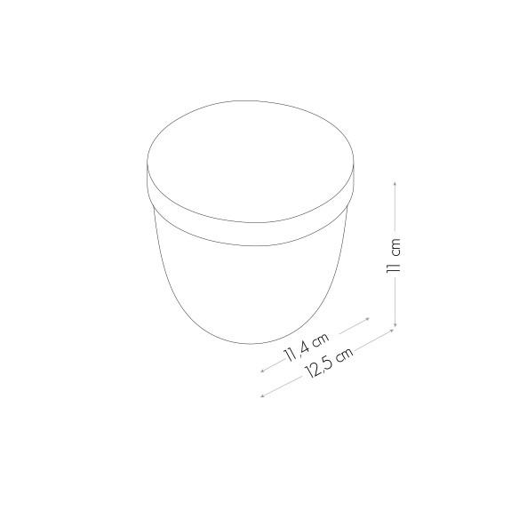 MAGNETIC JAR WITH LID 10 CM TRANSPARENT