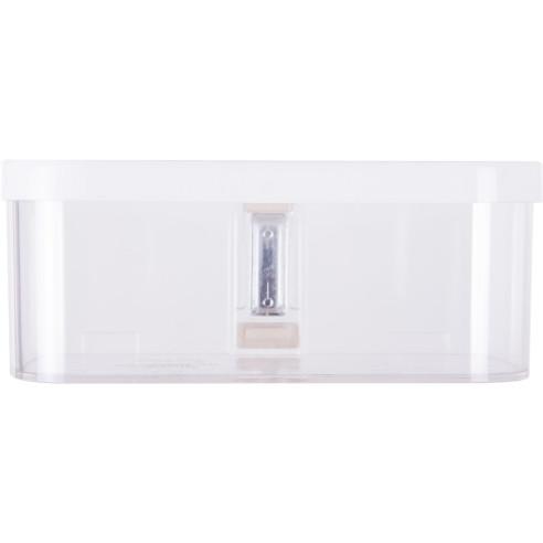 Caja Magnetica de 22 cm Transparente con Tapa