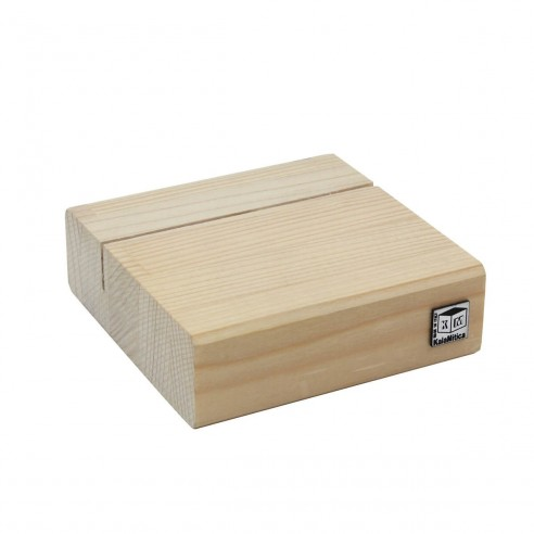 WOODEN BASE FOR BOARDS - 9x9x3 CM