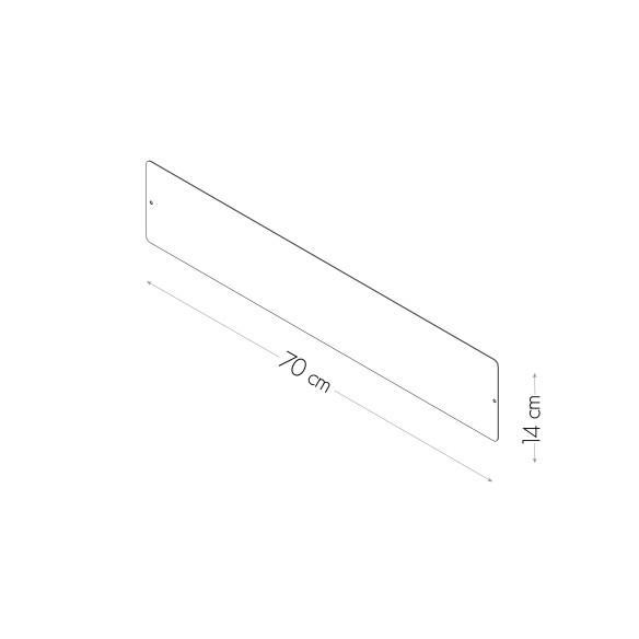 Pizarra magnetica 14X70 cm