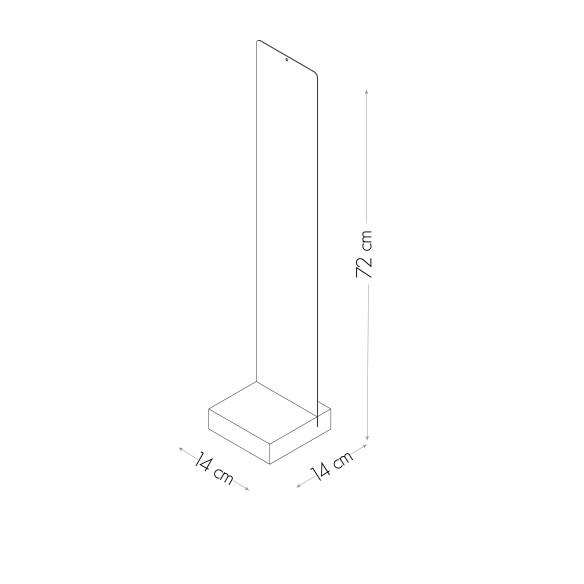 Pizarra con Base 14x70 cm