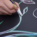 Lavagna Magnetica con Cornice Colorata 23X50 cm