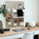 Wood Framed Magnetic Board 23x50 cm
