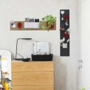 Magnetic Board with Wooden Plinth 9X24 cm