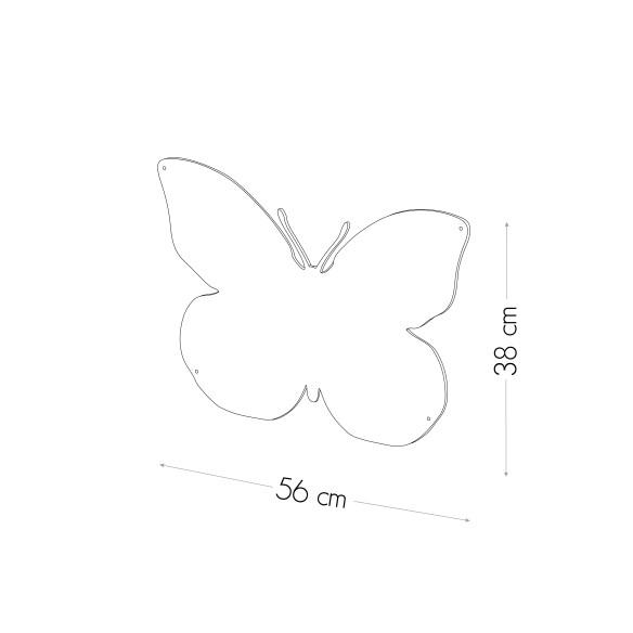 BUTTERFLY - MAGNETIC CHALKBOARD 56X38 CM