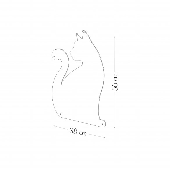 SHE CAT - MAGNETIC CHALKBOARD 56X38 CM