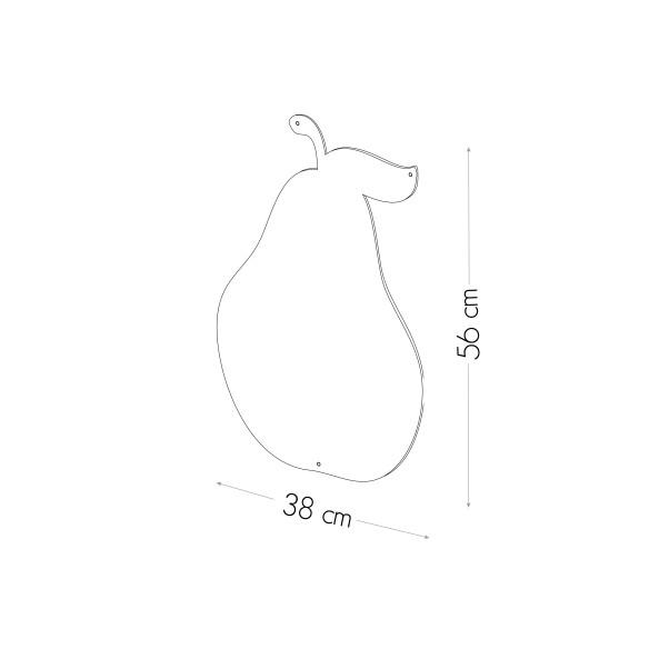 PEAR- MAGNETIC CHALKBOARD 56X38 CM