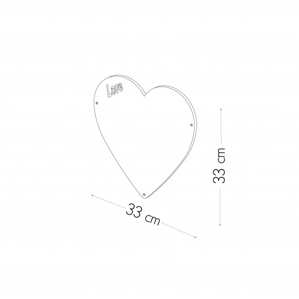 CUORE - LAVAGNA MAGNETICA 33X33 CM