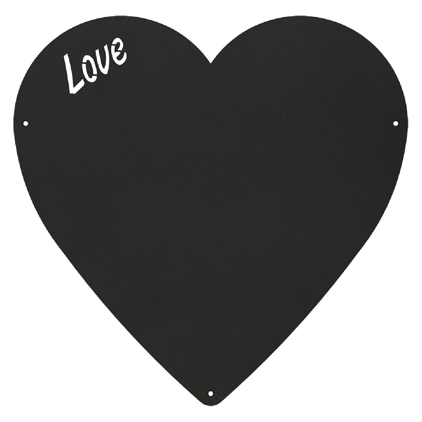 Da 22/cm a forma di cuore gesso Lavagna