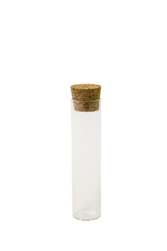 Eprouvette en verre avec bouchon en liege