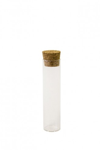 Vial glass and cork