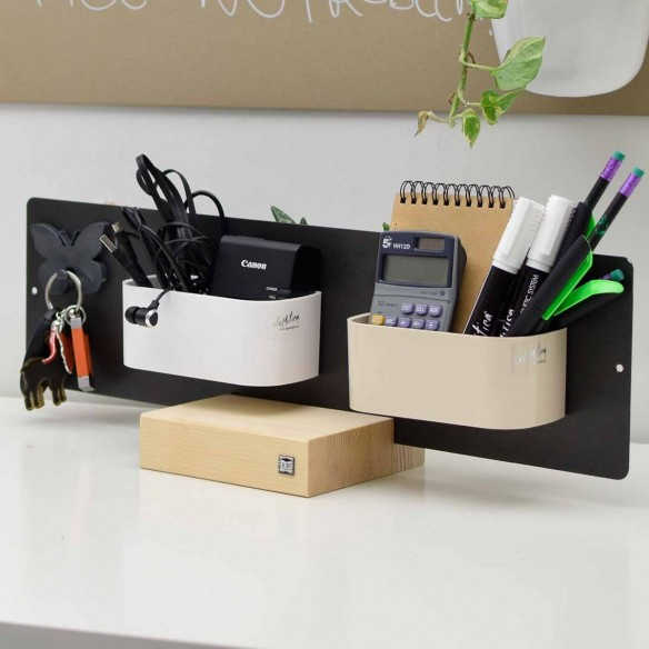 Magnetic Board with Wooden Plinth 14x50 cm